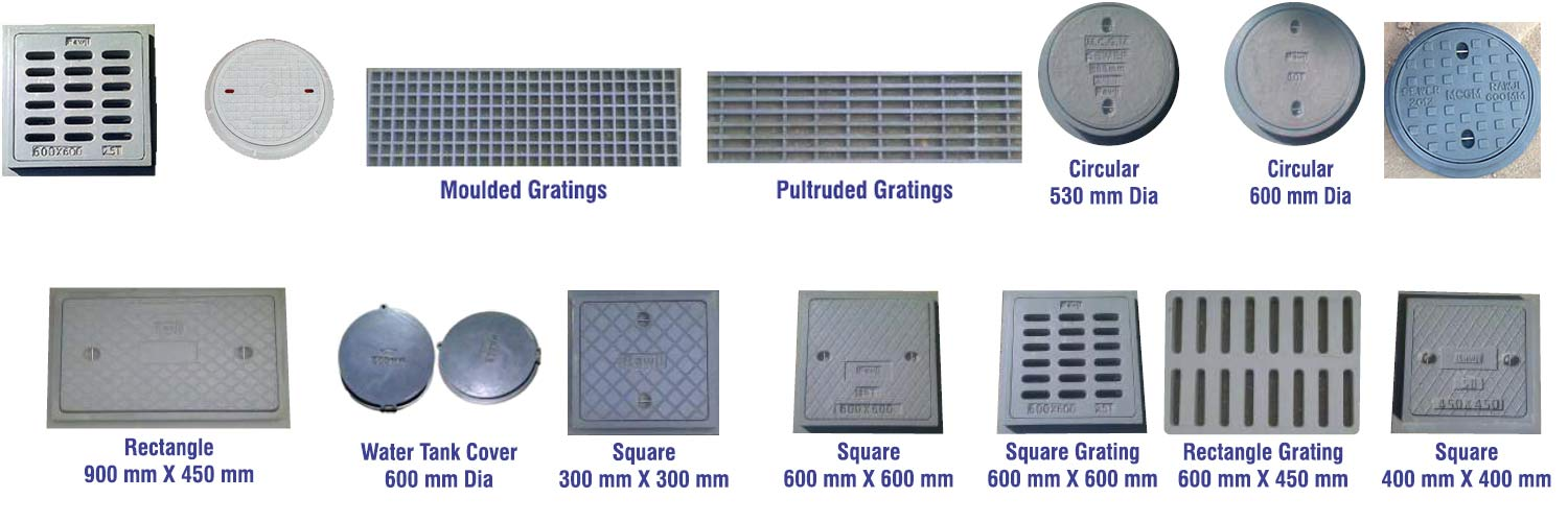 FRP Manhole covers Manufacturers  Drain Covers, Gratings